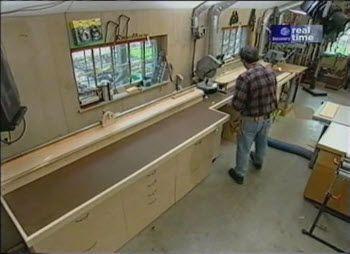 Miter Bench and Storage (2)