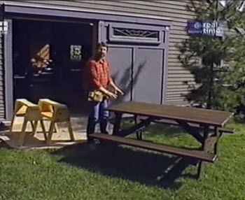 Picnic Table and Saw Horses