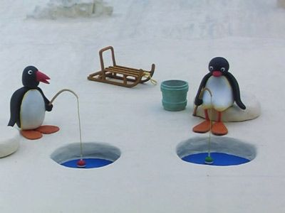 Pingu has a Fishing Competition