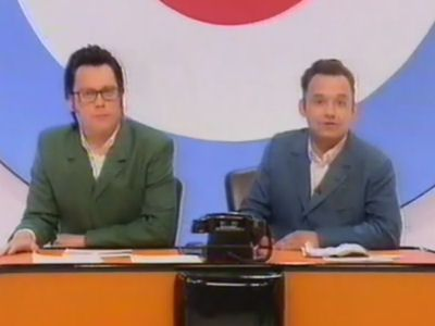Leslie Ash, Bill Oddie, Sid Little. Eddie Large