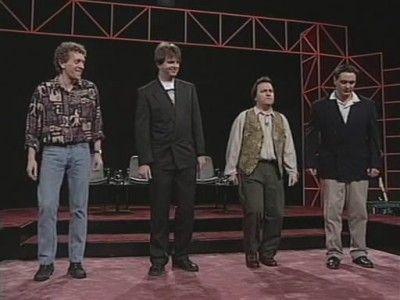 Jim Sweeney, Paul Merton, Steve Steen, Tony Slattery