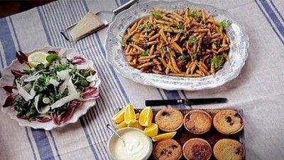 Jool's Pasta and Jam and Frangipane Tarts