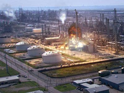Oil Fire in Texas
