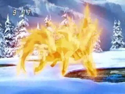 Karudio's Fierce Attack! Fighters Who Burn Up the Snow Field. Umagon's New Flame.