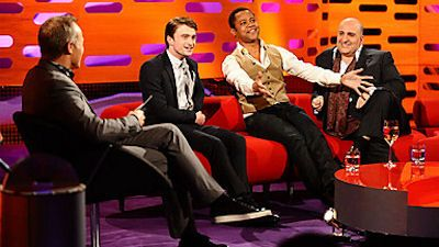 Daniel Radcliffe, Omid Djalili, Cuba Gooding Jr and Sinead O'Connor