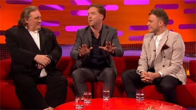 Damian Lewis, Gerard Depardieu, Dominic West and Olly Murs