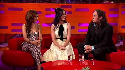 Katy Perry, Ross Noble and Cheryl Cole