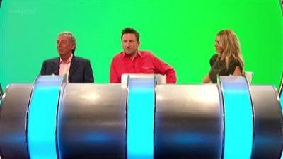 Rhod Gilbert, Sally Phillips, Tess Daly and Des O'Connor
