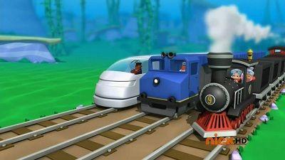 Triple Track Train Race