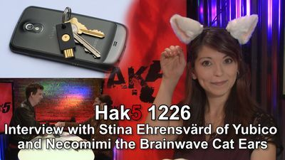 Interview with Stina Ehrensvärd of Yubico and Necomimi the Brainwave Cat Ears
