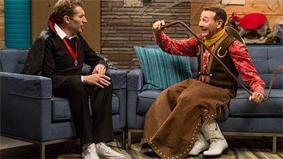 Pee-wee Herman Wears a Halloween Costume