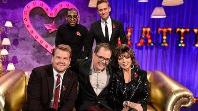 James Corden, Tom Hiddleston, Joan Collins, Tinie Tempah