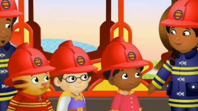 Firefighters at School