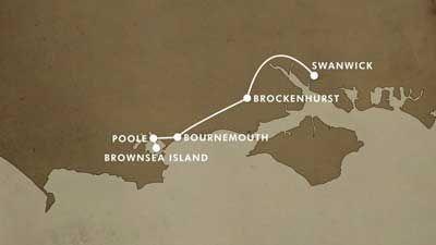 Swanwick to Brownsea Island