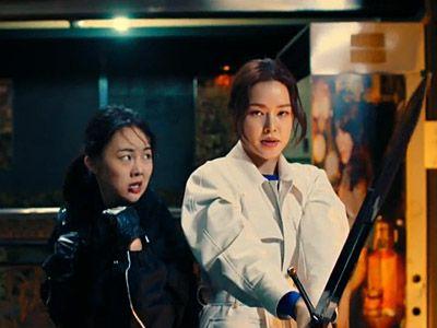 Kyeong Seon and Seung Ah Entering the Lair of Anton