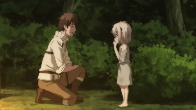 The Young Man and the Little Girl Meet.
