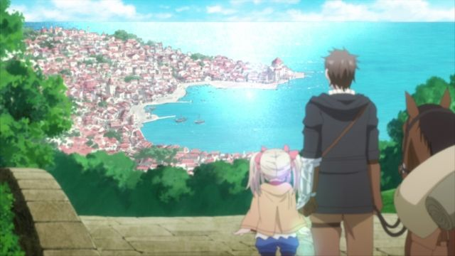 The Young Girl Visits a Port Town.