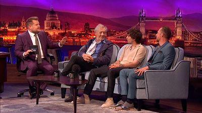 Ian McKellen, Louis Tomlinson, Simon Pegg