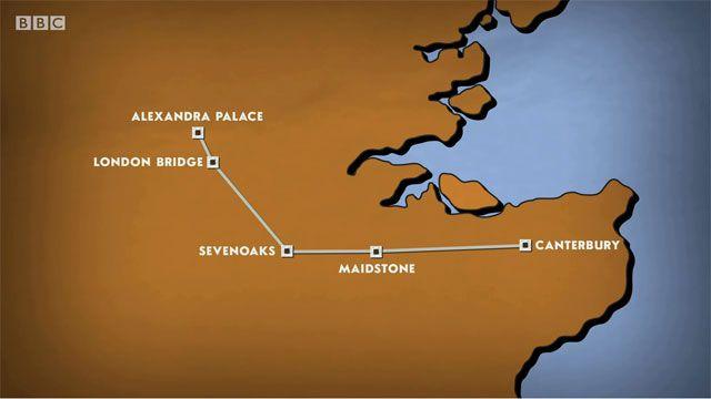 Canterbury to Alexandra Palace