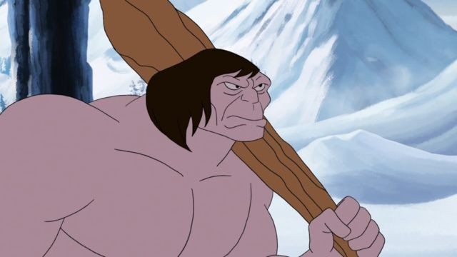 Caveman On The Half Pipe!